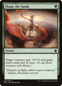 Shape the Sands, Magic: The Gathering, Dragons of Tarkir