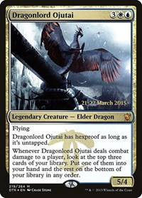 Dragonlord Ojutai, Magic: The Gathering, Prerelease Cards