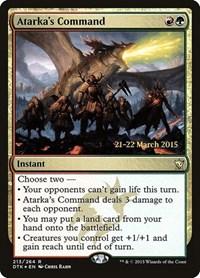 Atarka's Command, Magic, Prerelease Cards