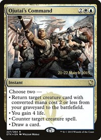 Ojutai's Command, Magic: The Gathering, Prerelease Cards