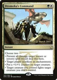 Dromoka's Command, Magic: The Gathering, Prerelease Cards