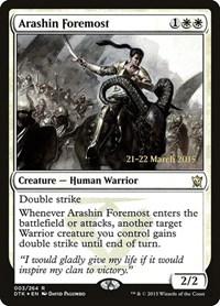 Arashin Foremost, Magic: The Gathering, Prerelease Cards