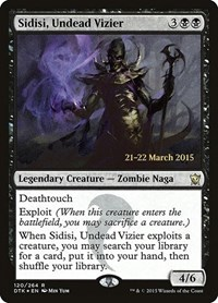 Sidisi, Undead Vizier, Magic: The Gathering, Prerelease Cards
