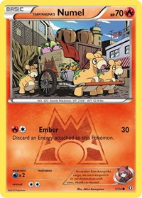 Team Magma's Numel, Pokemon, Double Crisis