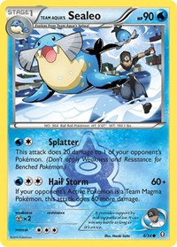 Team Aqua's Sealeo, Pokemon, Double Crisis