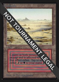 Badlands (IE), Magic: The Gathering, International Edition