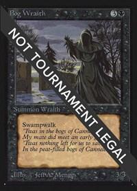 Bog Wraith (IE), Magic: The Gathering, International Edition