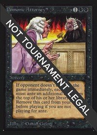 Demonic Attorney (IE), Magic: The Gathering, International Edition