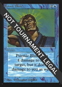 Psionic Blast (IE), Magic: The Gathering, International Edition