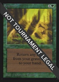 Regrowth (IE), Magic: The Gathering, International Edition