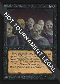 Scathe Zombies (IE), Magic: The Gathering, International Edition