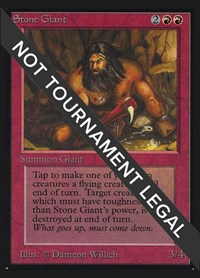 Stone Giant (IE), Magic: The Gathering, International Edition