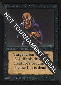 Weakness (IE), Magic: The Gathering, International Edition