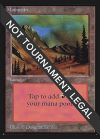 Mountain (Dirt)(IE), Magic: The Gathering, International Edition
