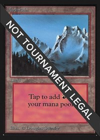 Mountain (Fog)(IE), Magic: The Gathering, International Edition