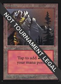 Mountain (Slate)(IE), Magic: The Gathering, International Edition