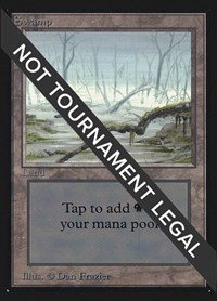 Swamp (A) (IE), Magic: The Gathering, International Edition