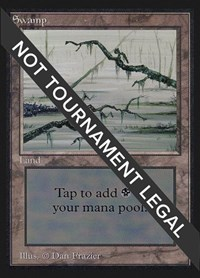 Swamp (Two Branches)(IE), Magic: The Gathering, International Edition