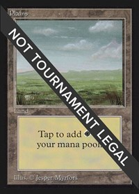 Plains (No Mountains)(IE), Magic: The Gathering, International Edition