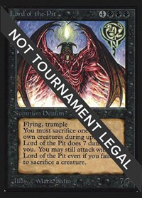 Lord of the Pit (CE), Magic: The Gathering, Collector's Edition