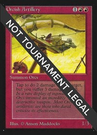 Orcish Artillery (CE), Magic: The Gathering, Collector's Edition