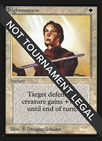 Righteousness (CE), Magic: The Gathering, Collector's Edition