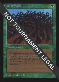 Wall of Wood (CE), Magic: The Gathering, Collector's Edition