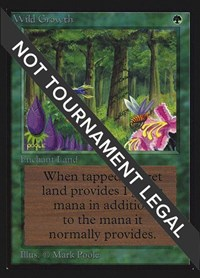 Wild Growth (CE), Magic: The Gathering, Collector's Edition