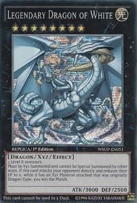 Yugioh ORICA Legendary dragon of white Ultra rare prize 2012-EN001 dds-001