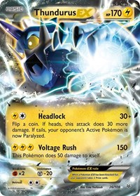 Thundurus EX, Pokemon, XY - Roaring Skies