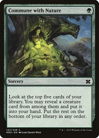 Commune with Nature, Magic: The Gathering, Modern Masters 2015